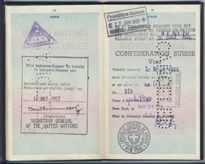 Dag Hammarskjold passport signature