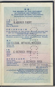 Trygve Lie passport signature