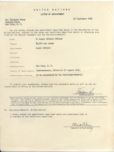 Vlado UN letter of appointment