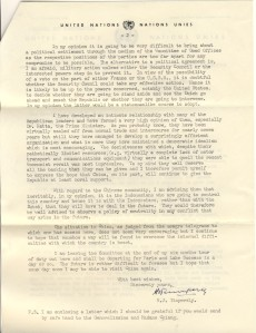 H.J. Timperely letter to Dr. T.V. Soong 2