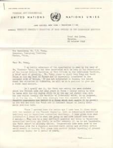 H.J. Timperely letter to Dr. T.V. Soong