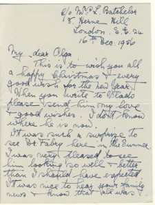 Letter from Elspeth Young