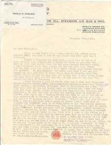 Letter From Teckla Carlson