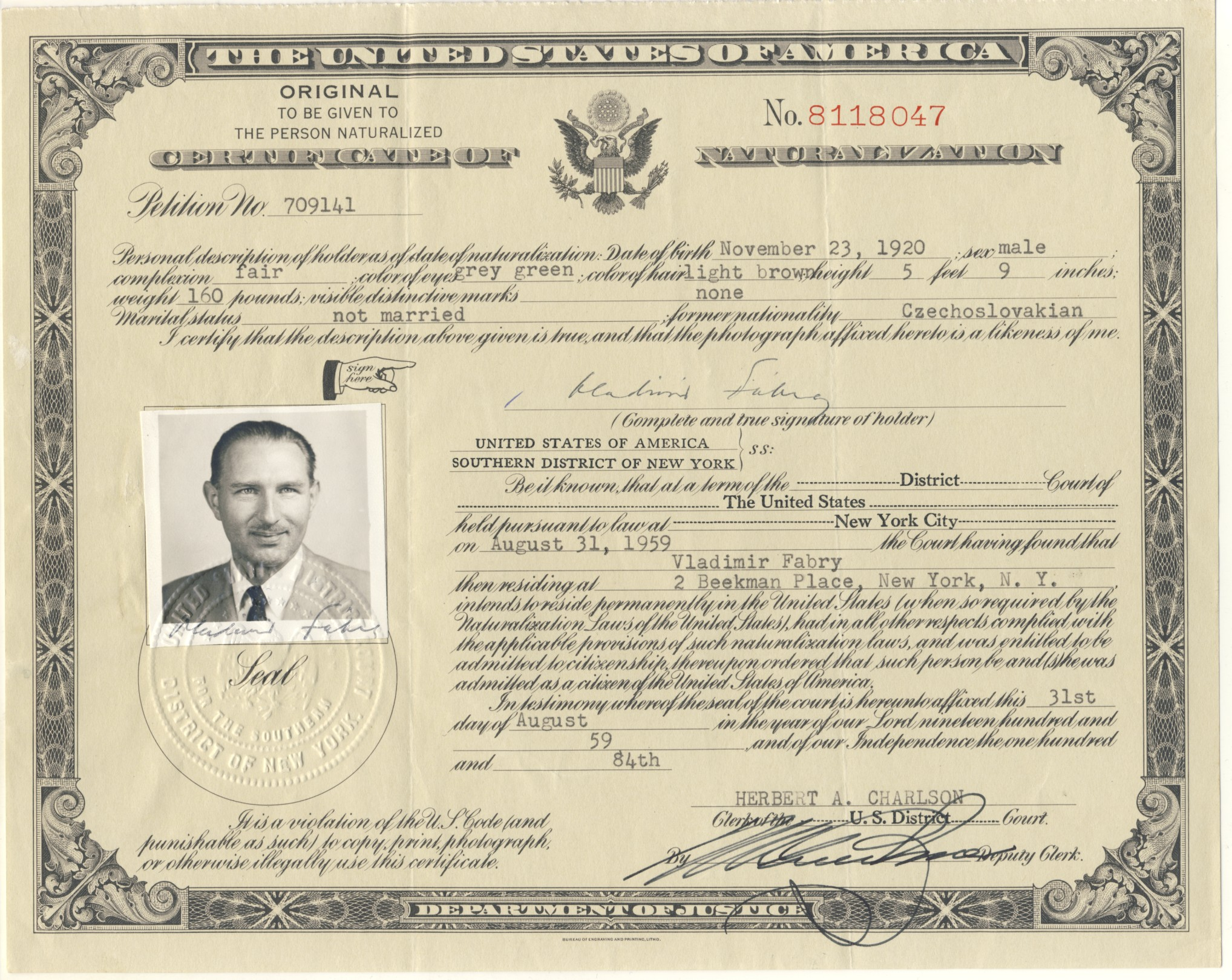 Political refugees vlado vlado certificate of naturalization xflitez Choice Image