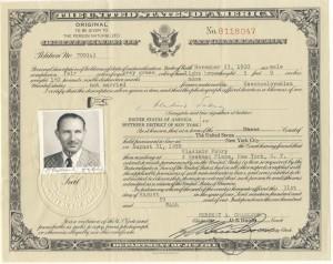 Vlado Certificate of Naturalization