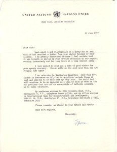General Wheeler letter 25 June 1957