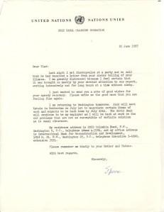 General Wheeler letter 25 June 1957