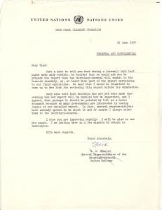 General Wheeler letter 26 June 1957