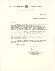 General Wheeler letter 26 June 1957