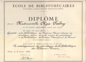 Olga Fabry Diploma 2