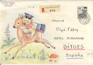 Pavel Fabry envelope drawing