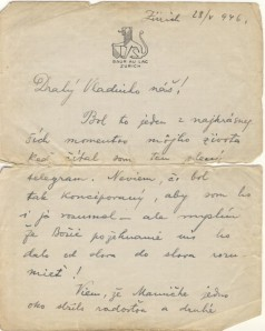 Pavel letter to Vlado 1946 1