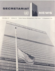 Secretariat News September 1961 cover