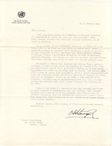 Stavropoulos letter to Madam Fabry 13 Feb 1961
