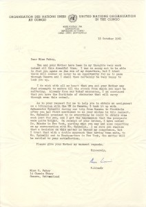 Sture Linner letter to Olga 19 Oct 1961