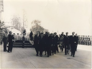 Funeral procession Geneva Sept. 1961