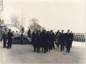 Funeral procession Geneva Sept. 1961