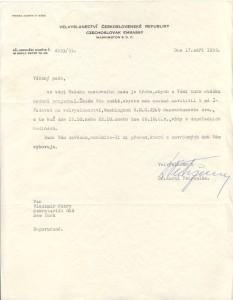 Czech Ambassador dispute 1955 IV