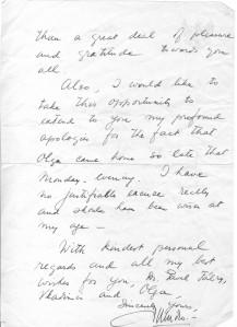 Sumitro letter Mrs Fabry II