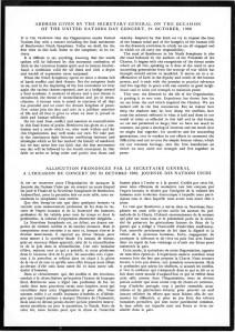 UN Memorial program, 28 September 1961, back page
