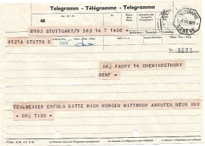 Frano Tiso telegram 4-7-59